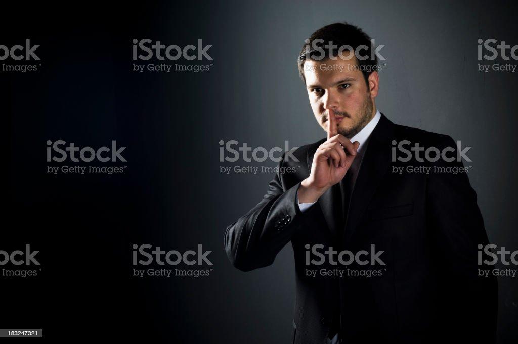 Be quiet ! royalty-free stock photo