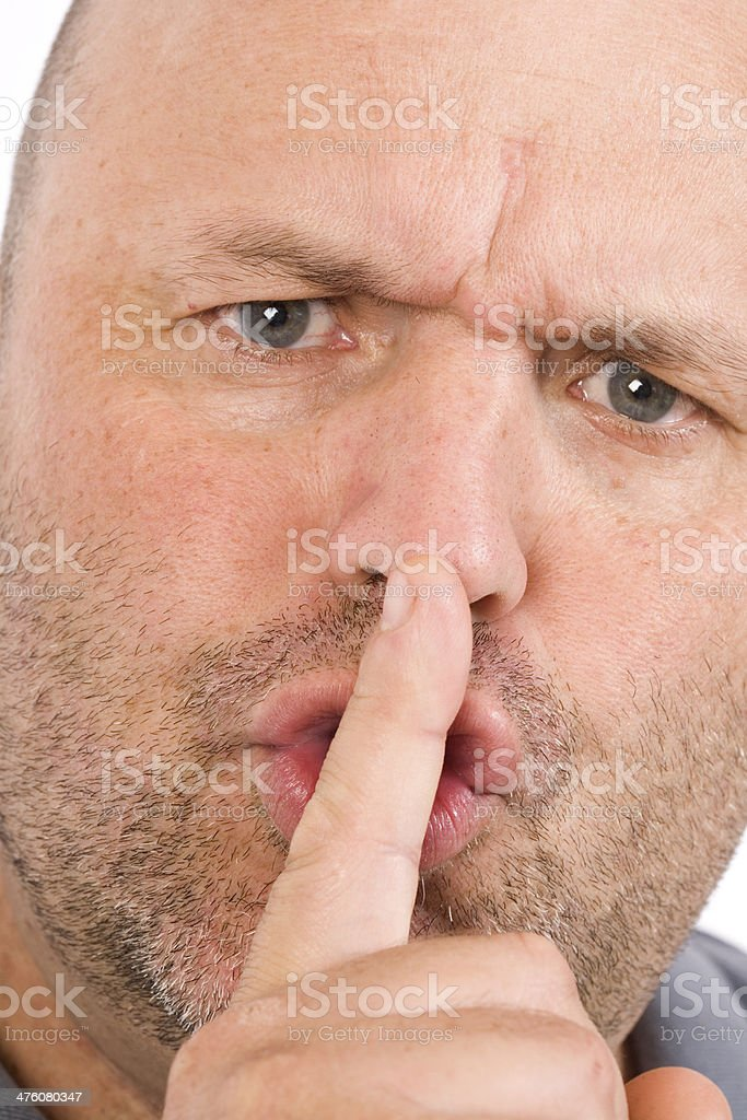 Be Quiet stock photo