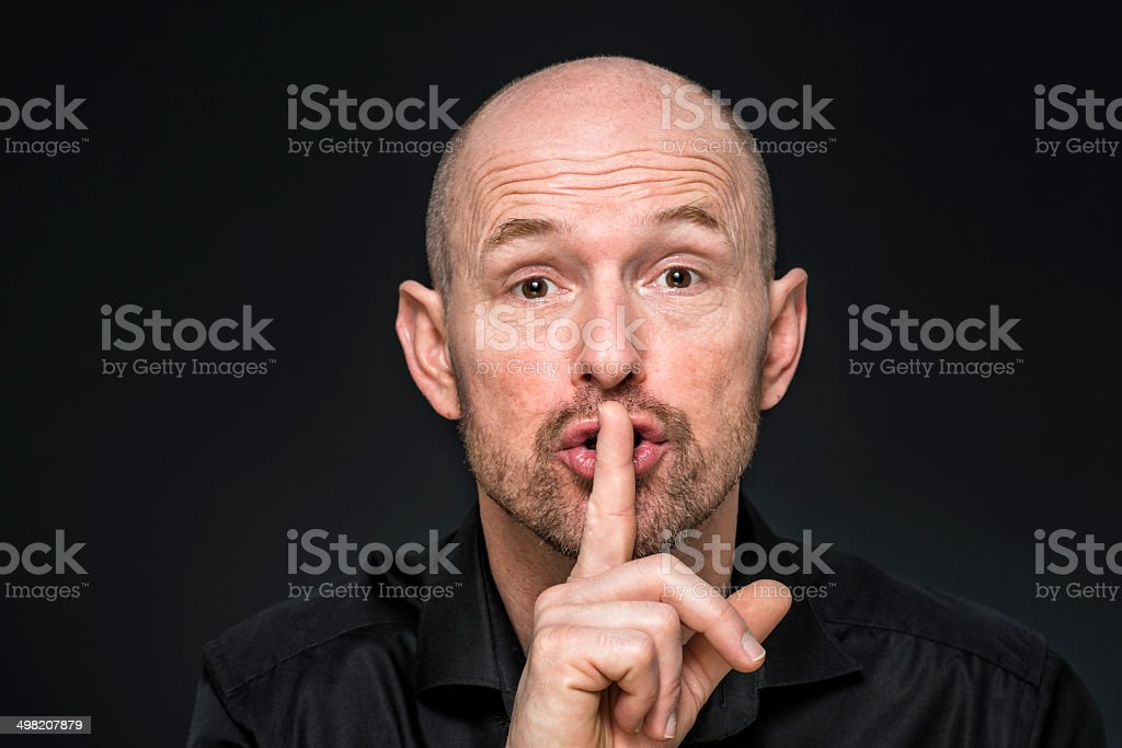 be quiet stock photo