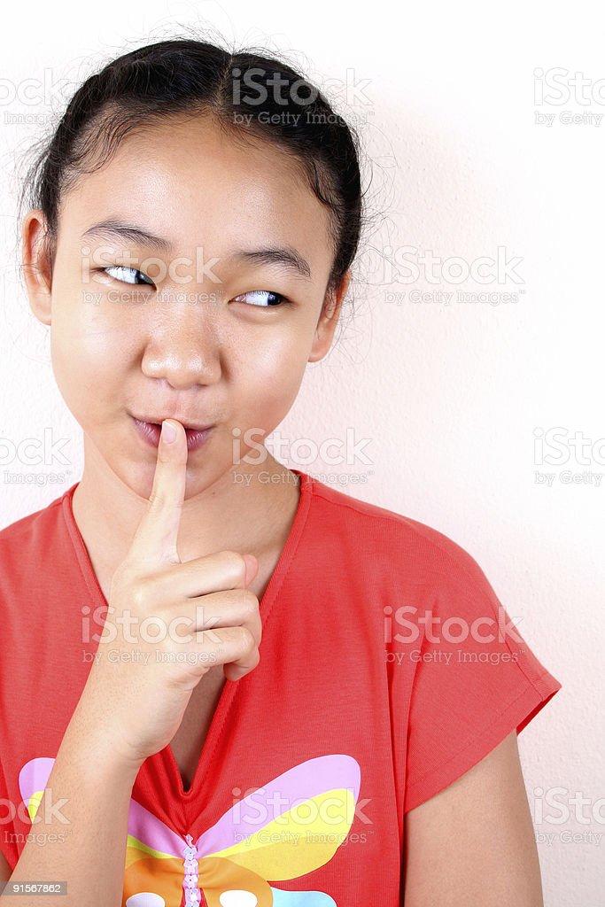 Sei still! Lizenzfreies stock-foto