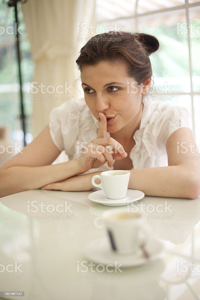 be silent royalty-free stock photo