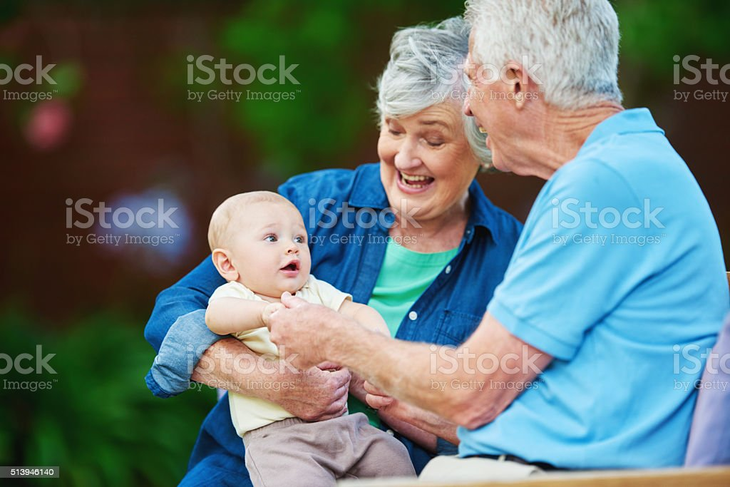 Be the grandparent you want them to remember stock photo