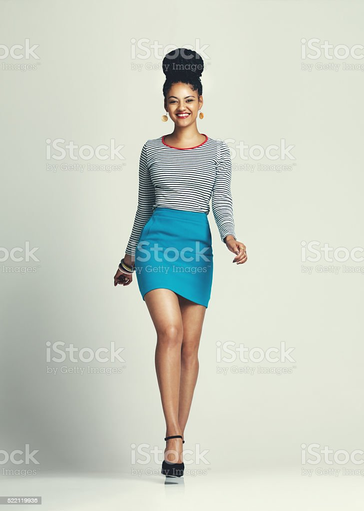 Be the leading lady of your own life stock photo