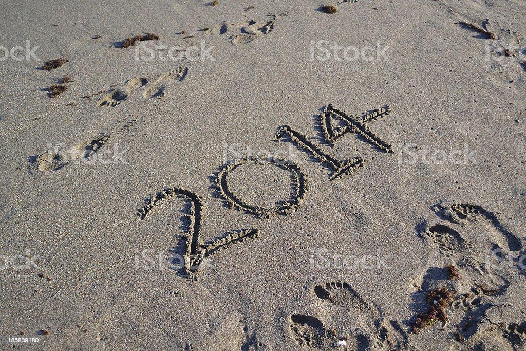 Beach 2014 royalty-free stock photo