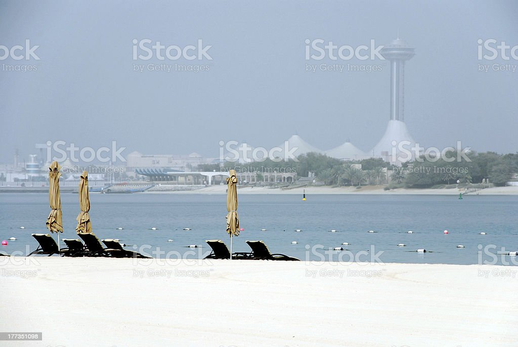 Beach Abu Dhabi royalty-free stock photo