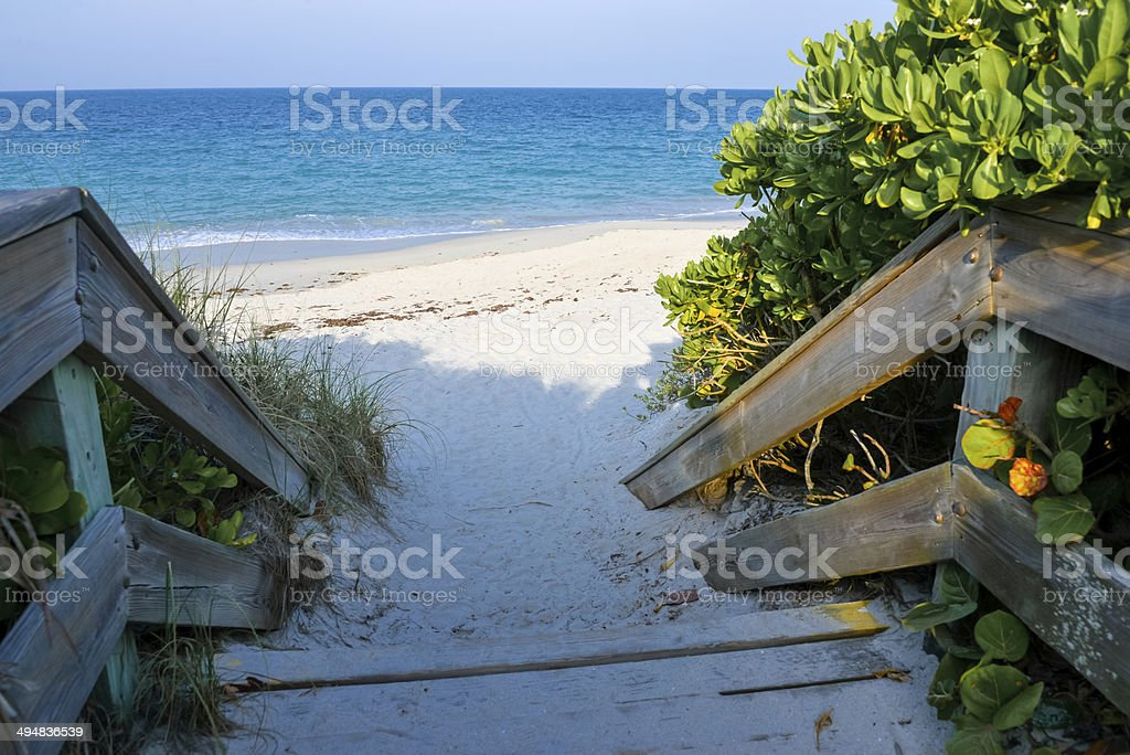 Beach Access Boardwalk stock photo