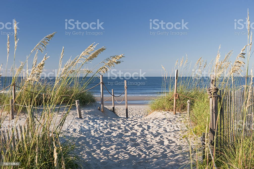 Beach Access stock photo