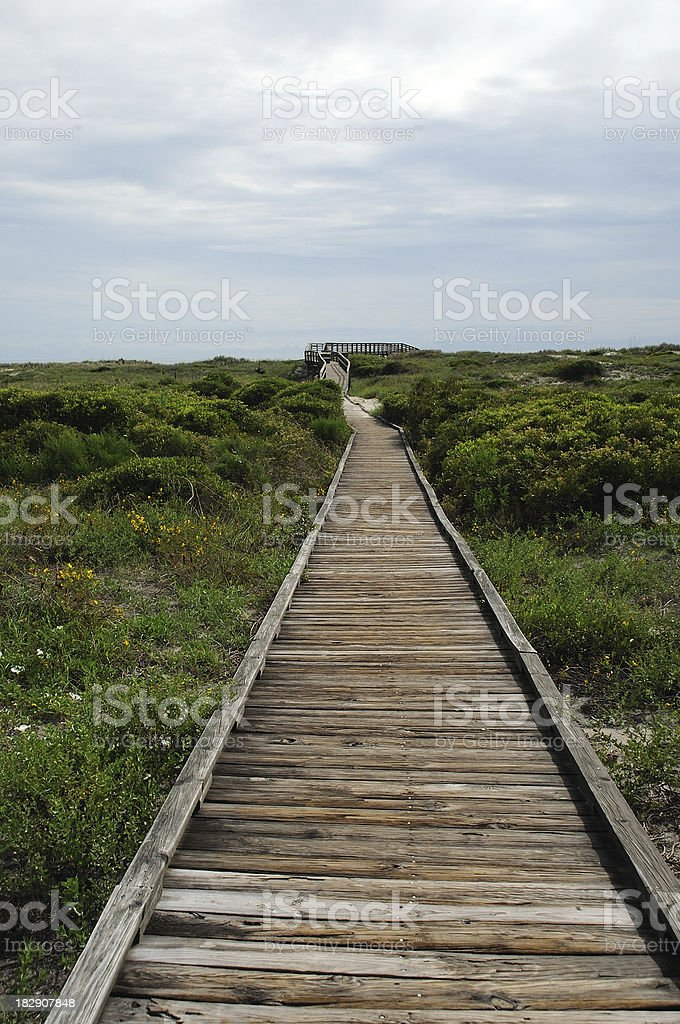 Beach Access stock photo