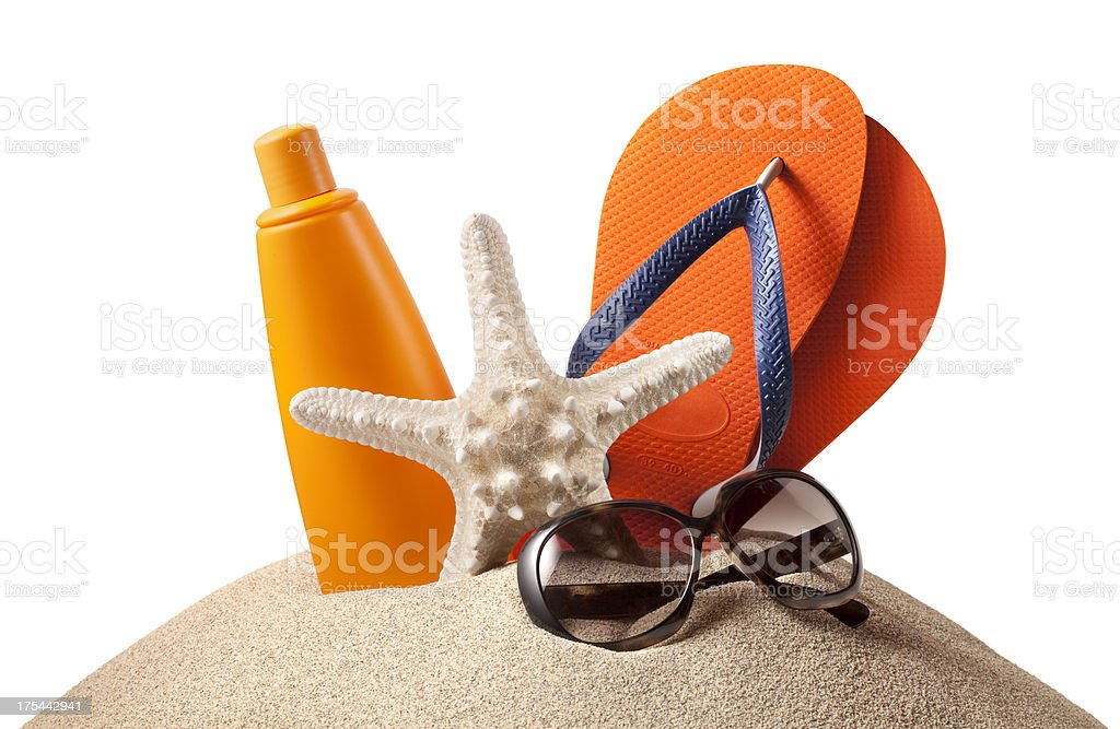 Beach accessories. royalty-free stock photo