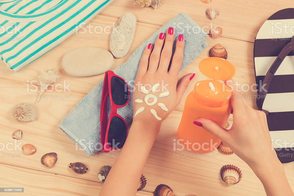 Beach accessories. stock photo