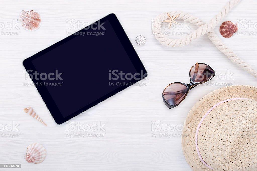 Accessoires de plage  photo libre de droits