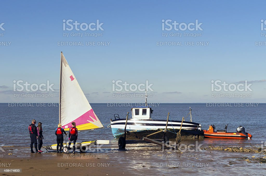 Beach activities royalty-free stock photo