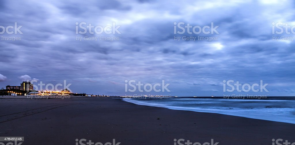 Beach after the sunset royalty-free stock photo