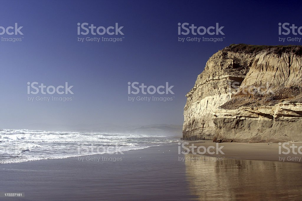 Beach and Cliffs stock photo