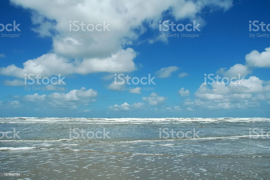 Beach and clouds stock photo