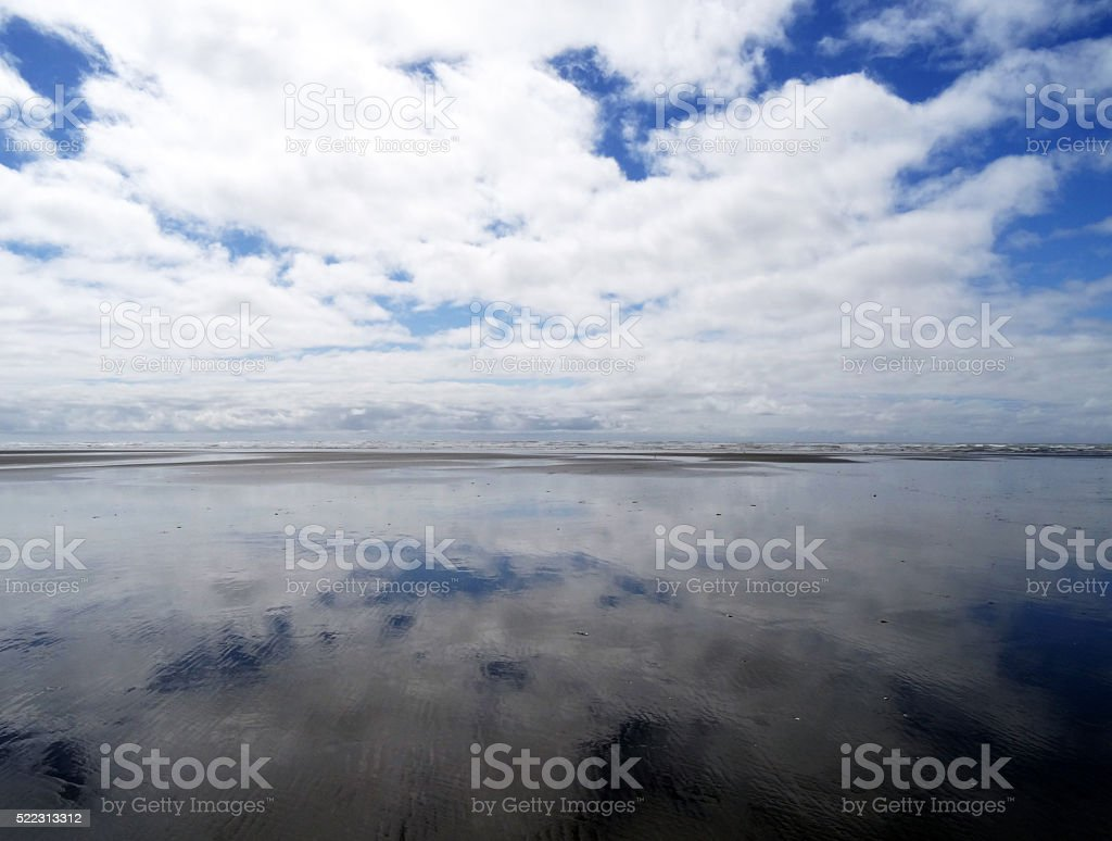Beach and cloudy sky royalty-free stock photo
