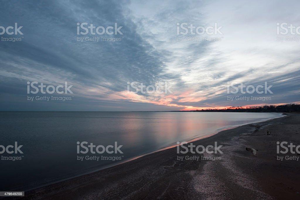 Beach and Dusk stock photo