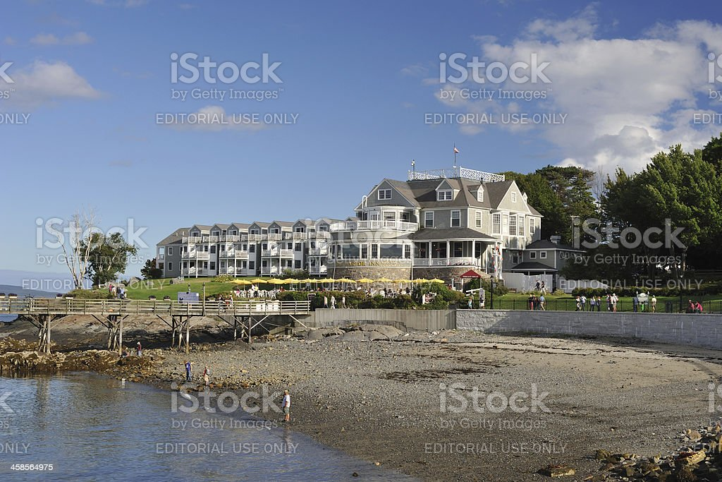 Beach and Inn stock photo