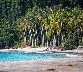 Beach and lagoon named Crystal Bay