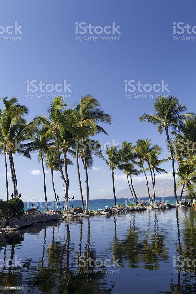 'Beach and Lake,Wailea-Makena, Maui, HI' stock photo