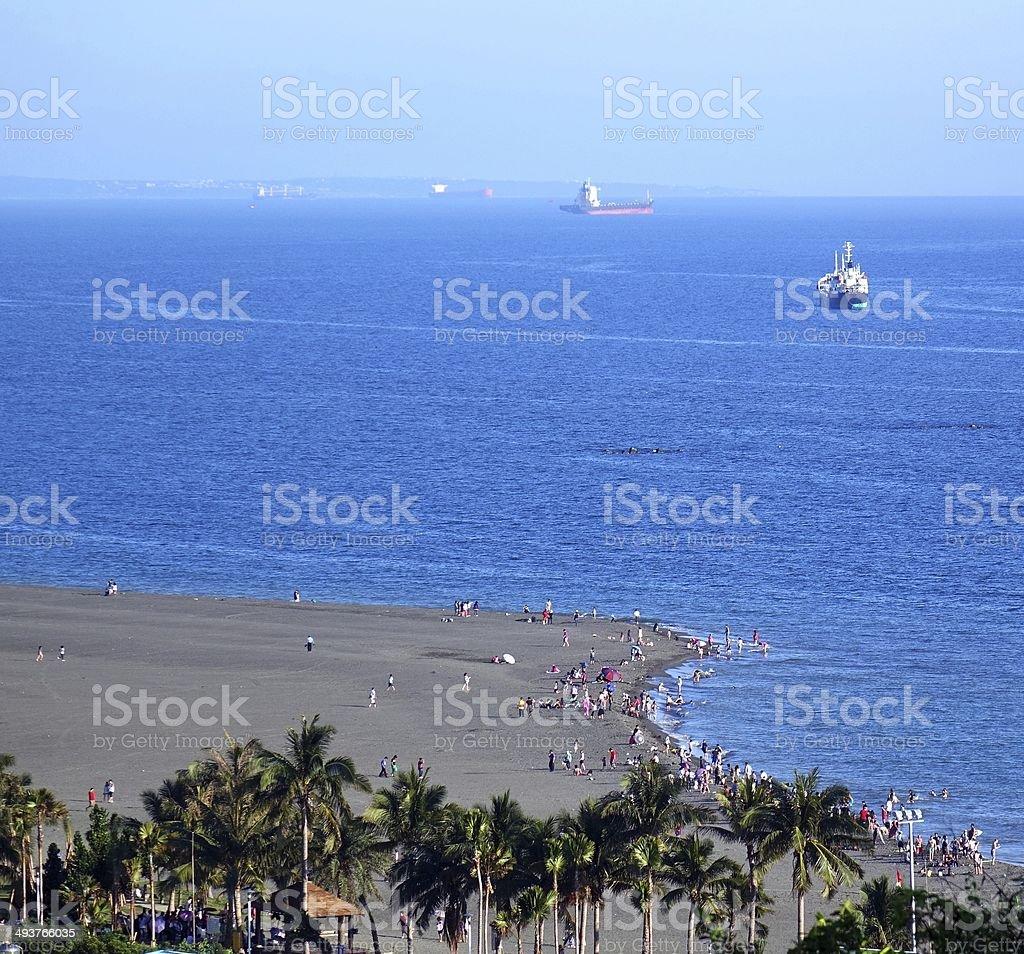 Beach and Ocean on Chijin Island stock photo