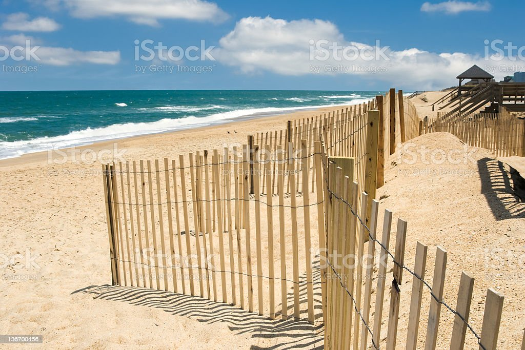 Beach and Ocean Surf, Outer Banks, North Carolina stock photo