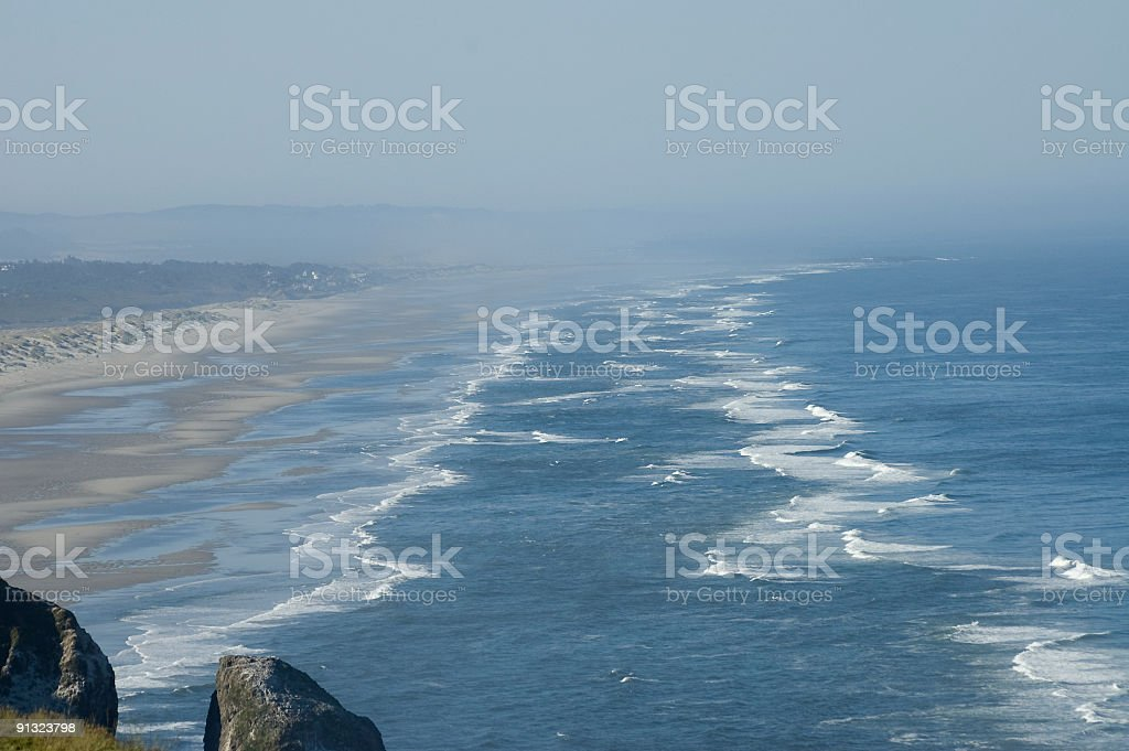 Beach and Pacific ocean stock photo