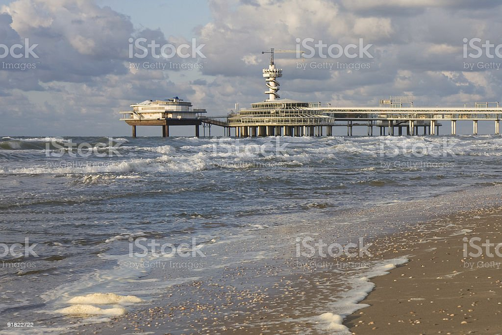 Beach and Pier stock photo