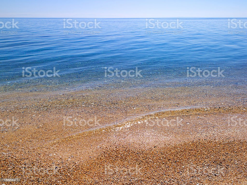 Beach and sea background royalty-free stock photo