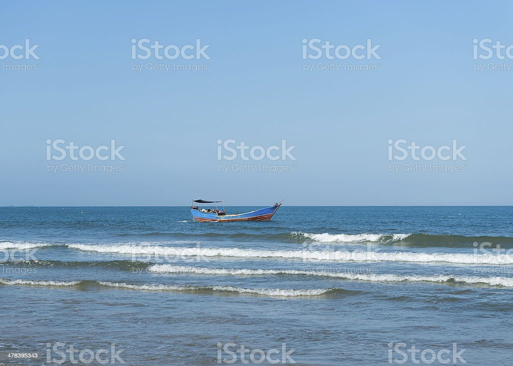 beach and sea royalty-free stock photo