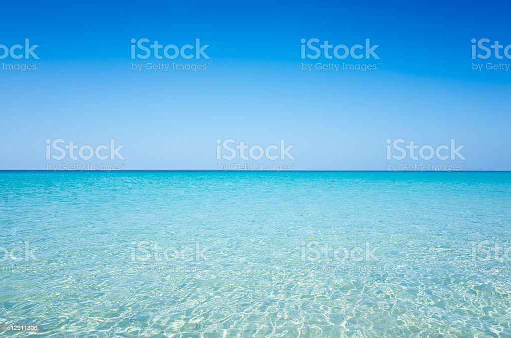 Beach and sea stock photo