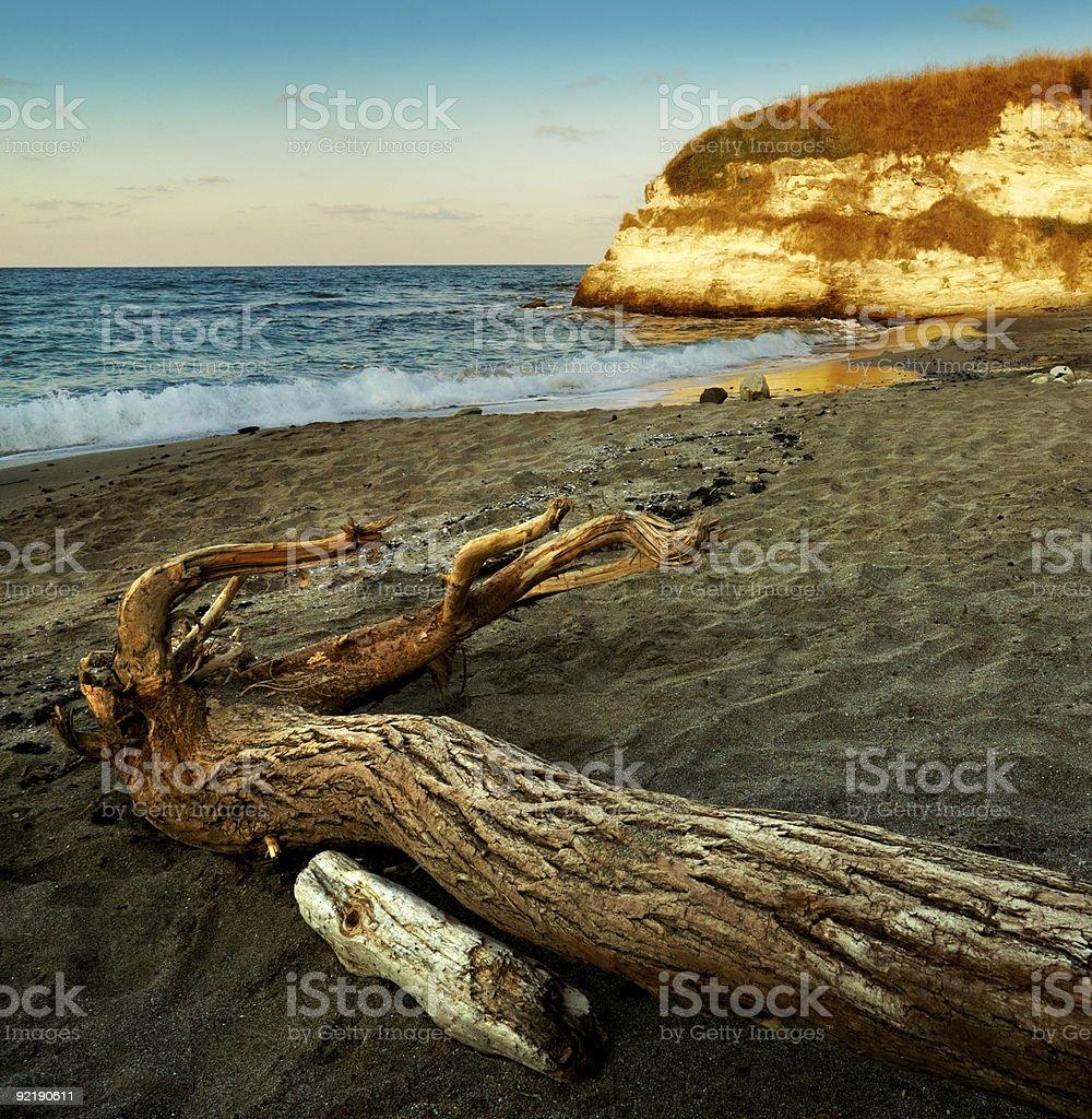 Beach and sea scenery stock photo