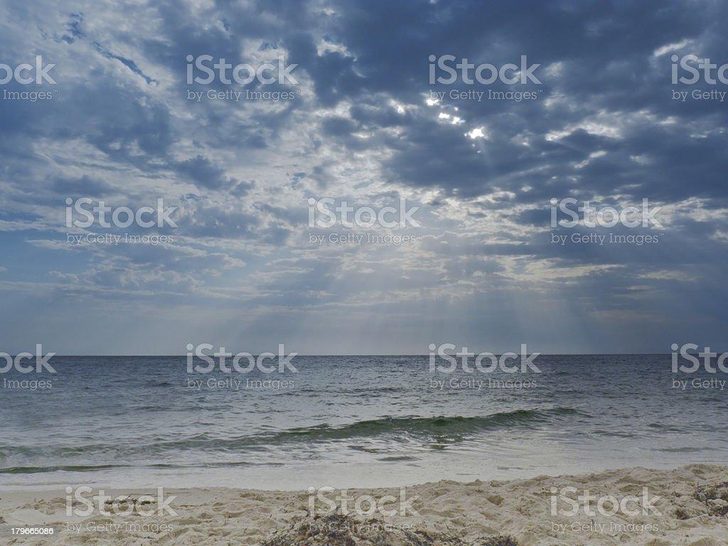 Beach and sea sunrise royalty-free stock photo
