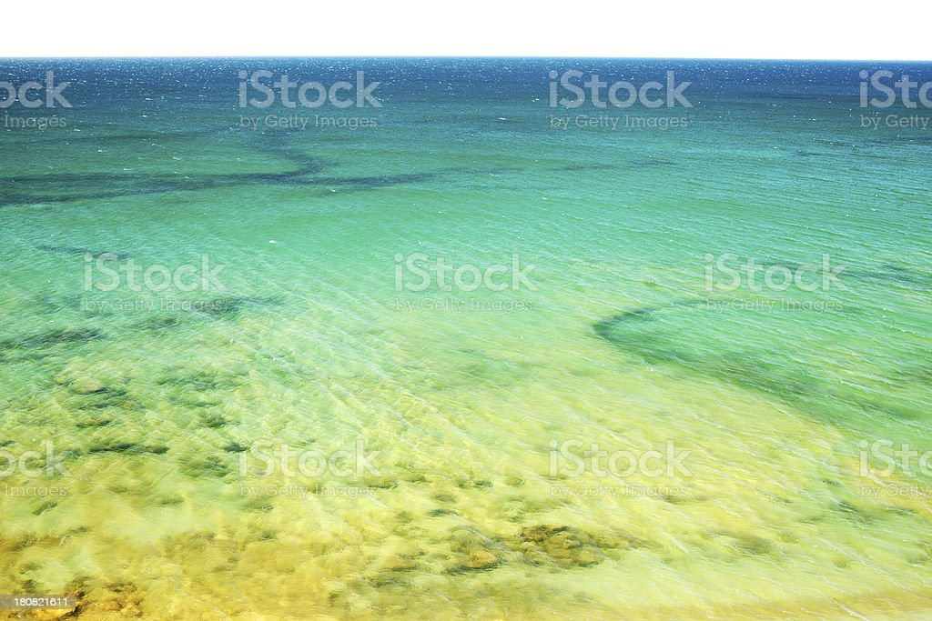 Beach and Sea Top View royalty-free stock photo