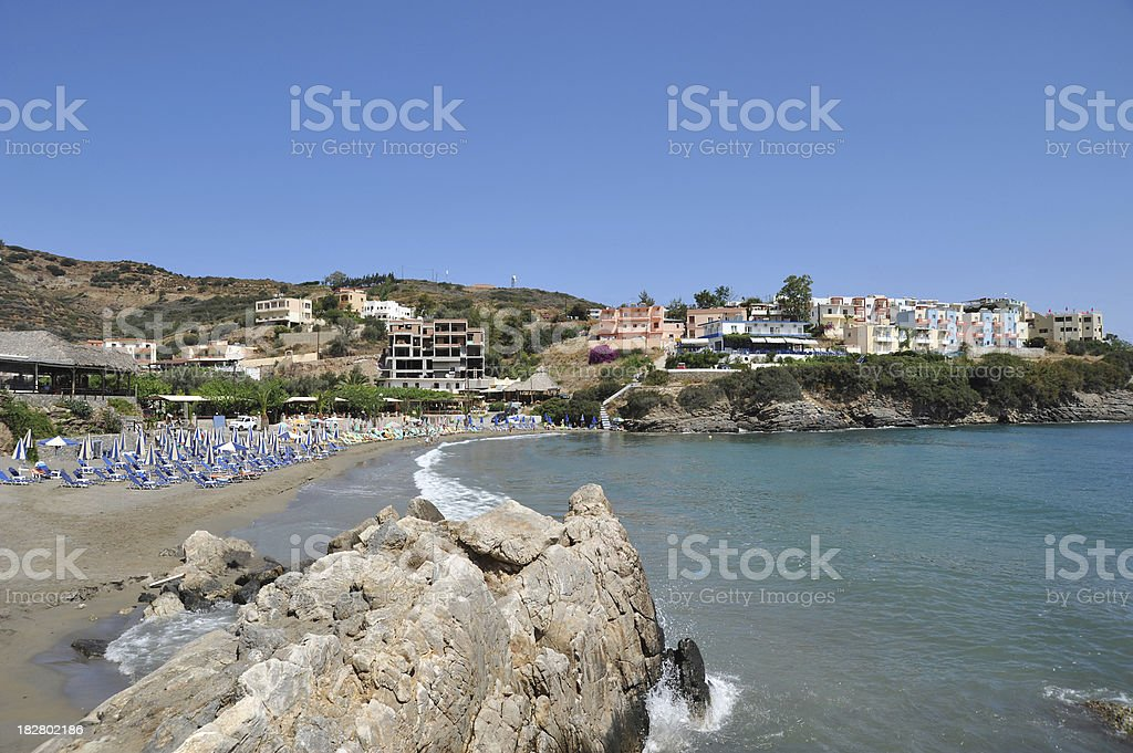 Beach and seafront at Bali, Crete, Greece royalty-free stock photo