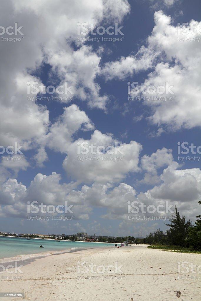 beach and sky stock photo