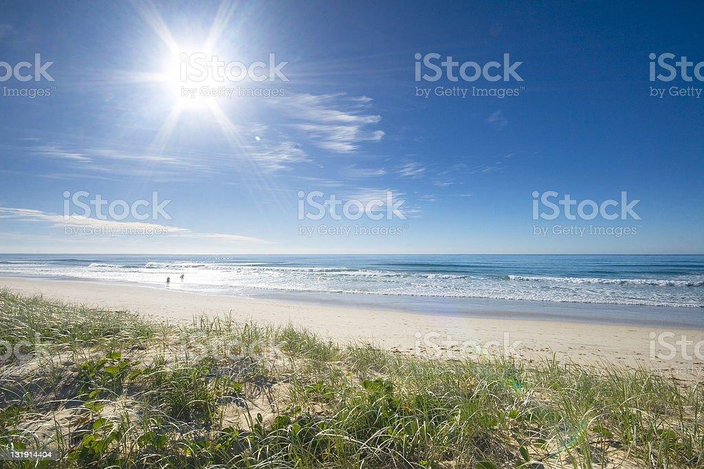beach and sunshine stock photo
