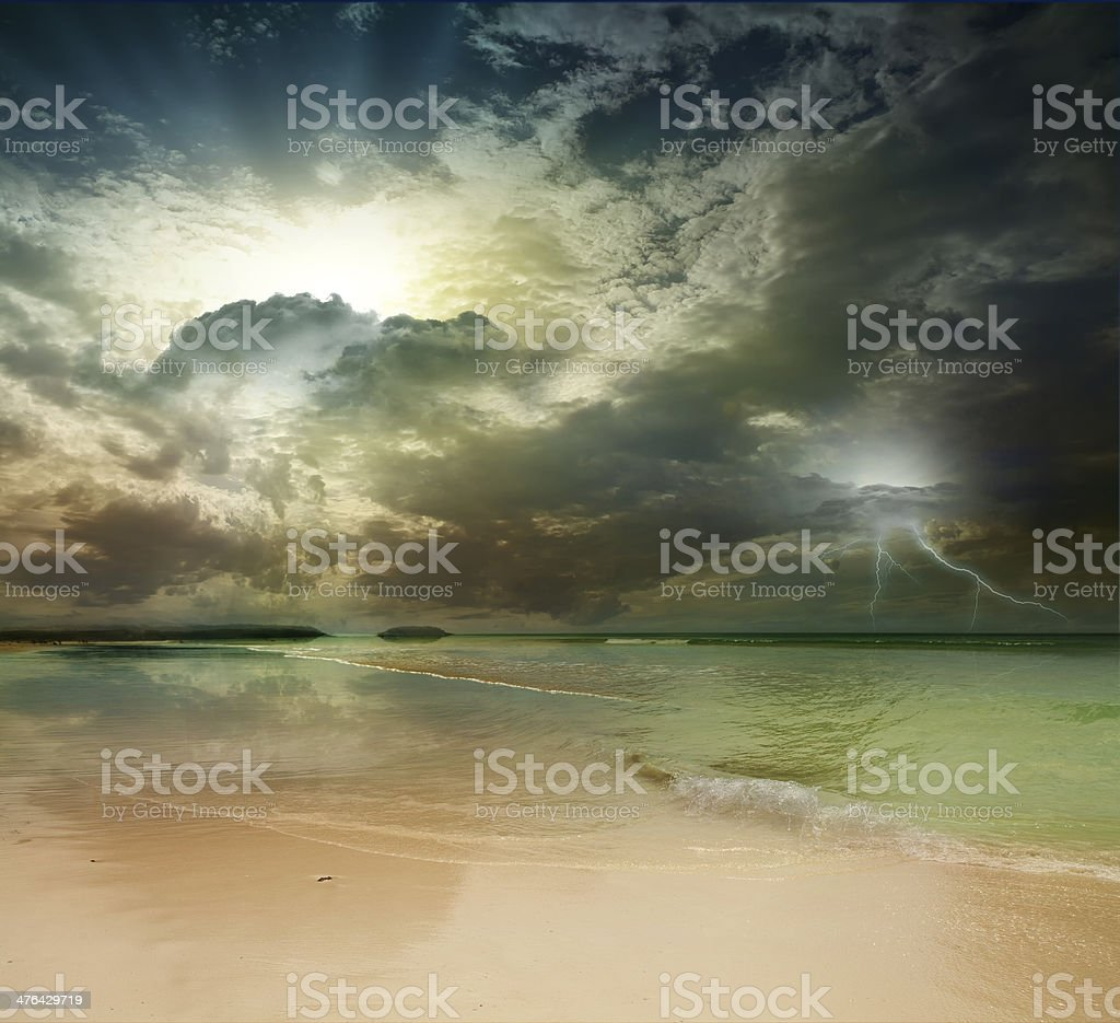 beach and tropical sea royalty-free stock photo