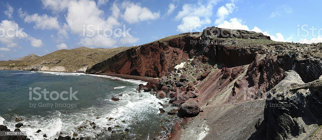 Beach and Volcanic Cliff - XXXLarge royalty-free stock photo