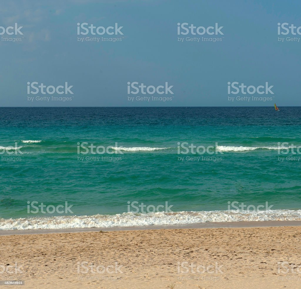 Beach and waves stock photo