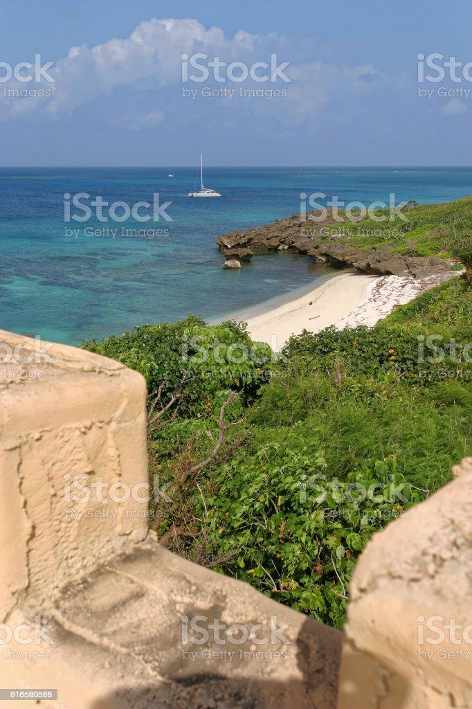 Beach, Arasshisuhida, Ikema island, Okinawa stock photo