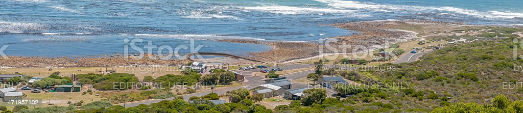 Beach area south of the Slangkop Lighthouse at Kommetjie stock photo