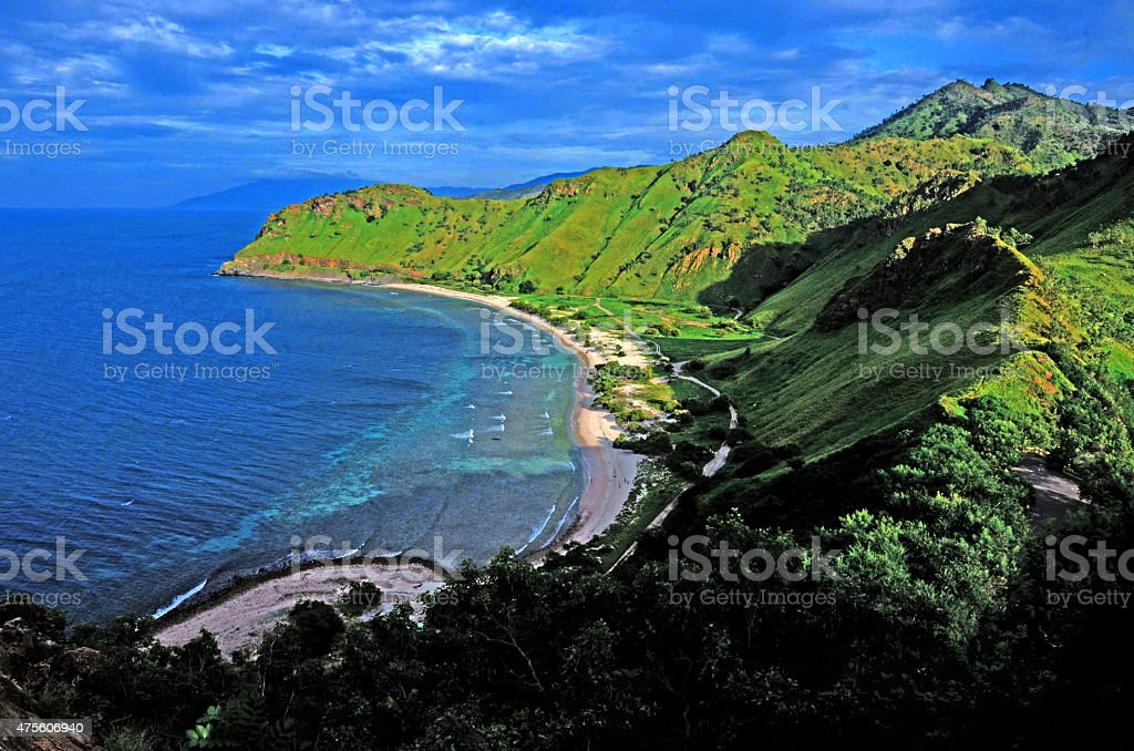 Beach around Fatucama Cristo Rei stock photo