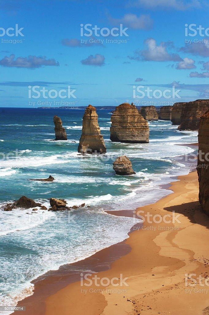 Beach at 12 Apostles stock photo