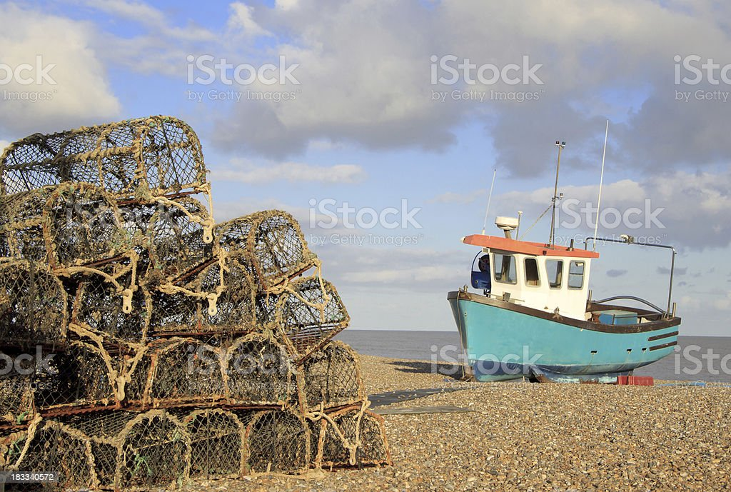 Beach at Aldeburgh, Suffolk stock photo