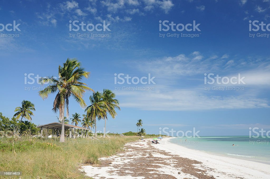 Beach at Bahia Honda, Florida Keys stock photo