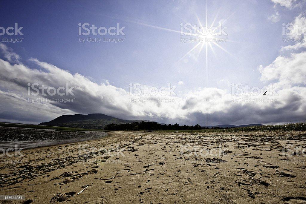 Beach at Baie-Saint-Paul. stock photo