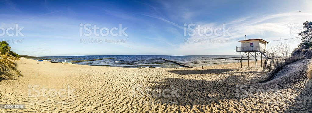 beach at baltic sea in usedom stock photo