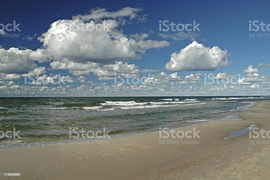 Beach at Baltic Sea. stock photo