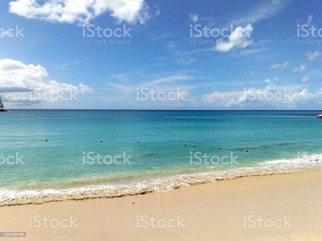Beach at Barbados 6 stock photo